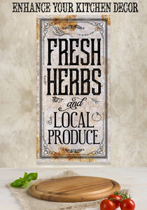 Fresh Herbs and Local Produce - Canvas.