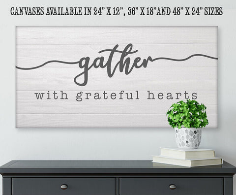 Image of Gather With Grateful Hearts - Canvas