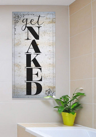Image of Get Naked Bath - Large Canvas Wall Art - Great Bathroom Decor, Housewarming or Wedding Gift Lone Star Art