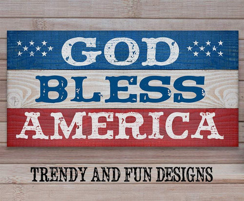 God Bless America - Canvas.