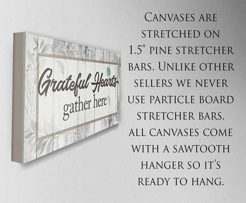 Image of Grateful Hearts Gather Here - Canvas.