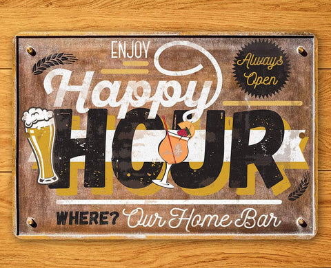 Image of Happy Hour - Metal Sign.