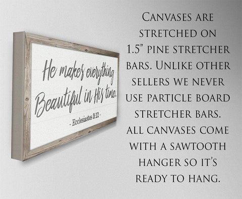 Image of He Makes Everything Beautiful - Canvas
