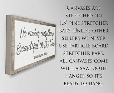 He Makes Everything Beautiful - Canvas