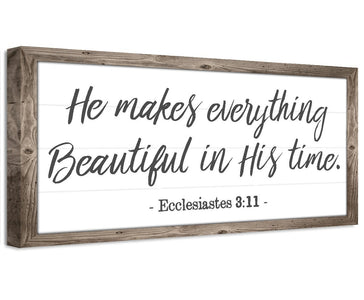 He Makes Everything Beautiful - Canvas Wall Hangings Lone Star Art