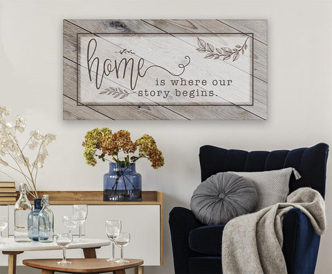 Image of Home Is Where Our Story Begins - Canvas.
