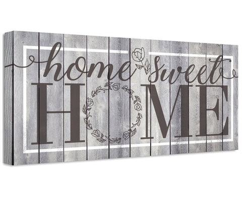 Image of Home Sweet Home - Canvas Wall Hangings Lone Star Art