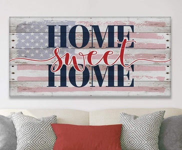 Home Sweet Home Flag - Canvas