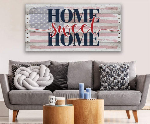 Image of Home Sweet Home Flag - Canvas