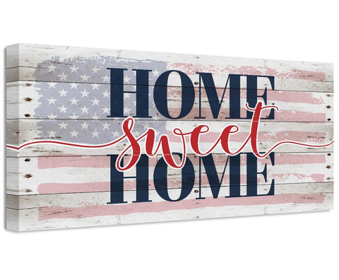 Image of Home Sweet Home Flag - Canvas Wall Hangings Lone Star Art