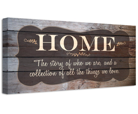 Image of Home The Story Of Who We Are - Canvas Wall Hangings Lone Star Art