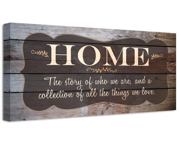 Home The Story Of Who We Are - Canvas Wall Hangings Lone Star Art