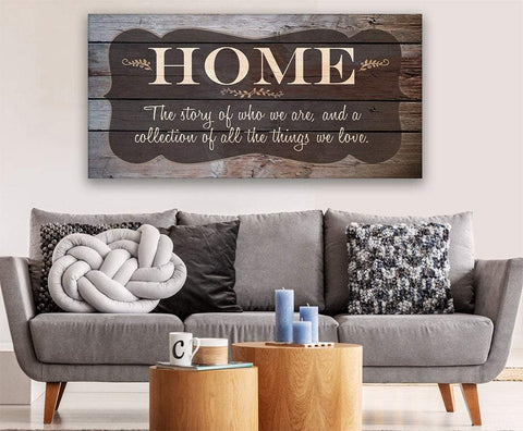 Image of Home The Story Of Who We Are - Canvas.