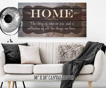 Home The Story Of Who We Are - Canvas