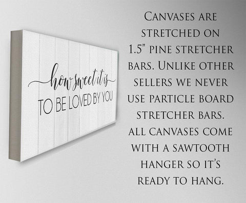 Image of How Sweet It Is To Be Loved By You - Canvas.
