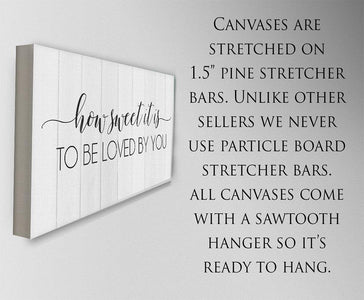 How Sweet It Is To Be Loved By You - Canvas.