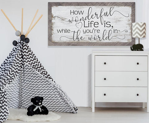 Image of How Wonderful Life Is - Canvas.