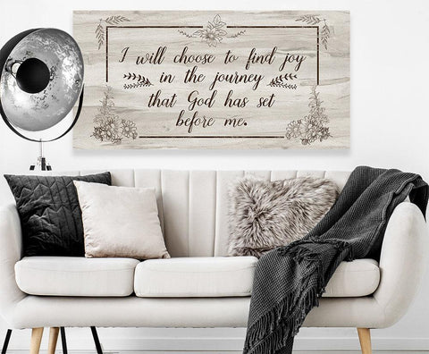 Image of I Will Choose To Find Joy - Canvas Lone Star Art