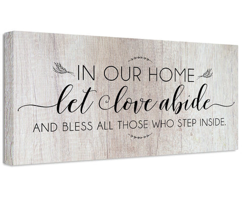 Image of In Our Home Let Love Abide - Canvas Wall Hangings Lone Star Art