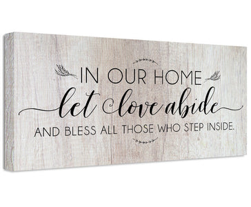 In Our Home Let Love Abide - Canvas Wall Hangings Lone Star Art