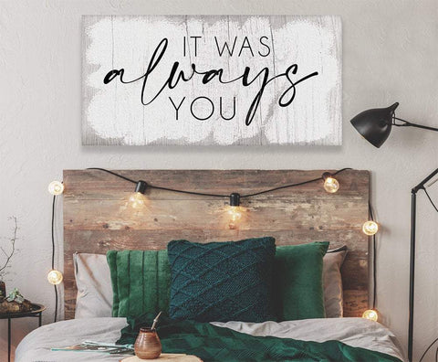 Image of It Was Always You - Large Canvas Art - Perfect Above Headboard - Great Housewarming and Wedding Gift Lone Star Art