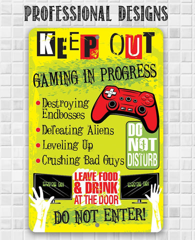 Image of Keep Out Gamer - Metal Sign Metal Sign Lone Star Art