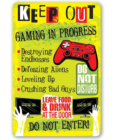 Image of Keep Out Gamer - Metal Sign Metal Sign Lone Star Art 8 x 12