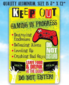 Keep Out Gamer - Metal Sign Metal Sign Lone Star Art