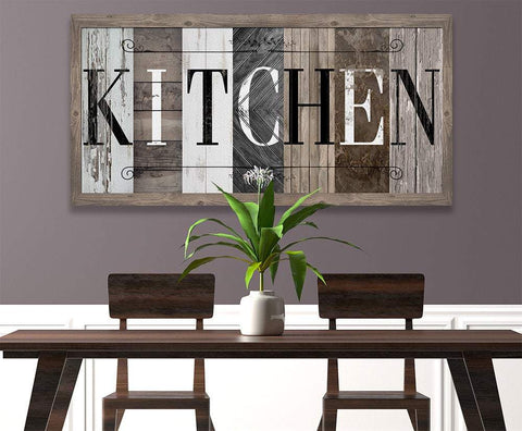 Image of Kitchen in Multi Pattern - Canvas.