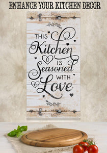 This Kitchen Is Seasoned With Love Vertical - Canvas.