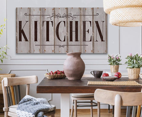 Image of Kitchen Sign - Canvas.