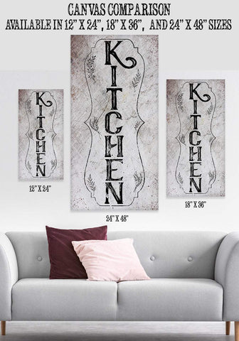 Image of Kitchen Vertical - Canvas.