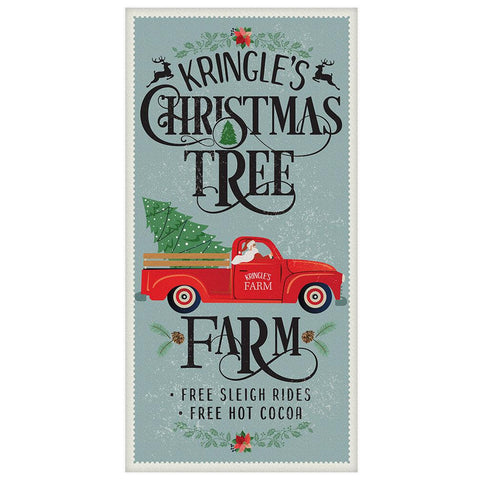 "Image of Kringle's Christmas Tree Farm - Canvas Lone Star Art 12"" x 24"""