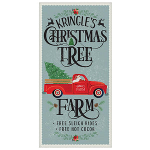 "Kringle's Christmas Tree Farm - Canvas Lone Star Art 12"" x 24"""