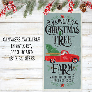Kringle's Christmas Tree Farm - Canvas Lone Star Art