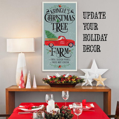 Image of Kringle's Christmas Tree Farm - Canvas Lone Star Art