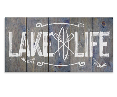 "Image of Lake Life - Canvas Lone Star Art 12"" x 24"""