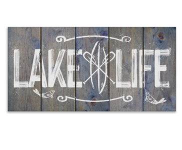 "Lake Life - Canvas Lone Star Art 12"" x 24"""