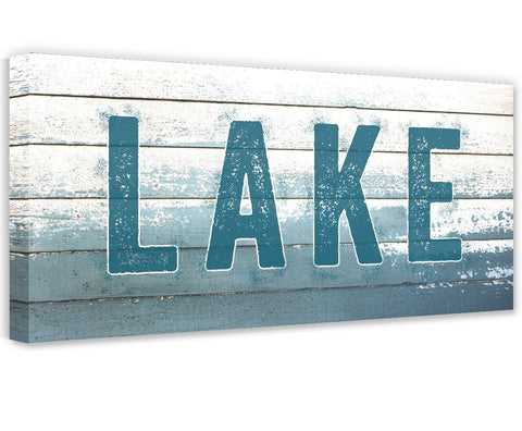 Image of Lake Sign - Canvas Wall Hangings Lone Star Art
