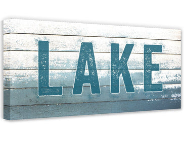 Lake Sign - Canvas Wall Hangings Lone Star Art