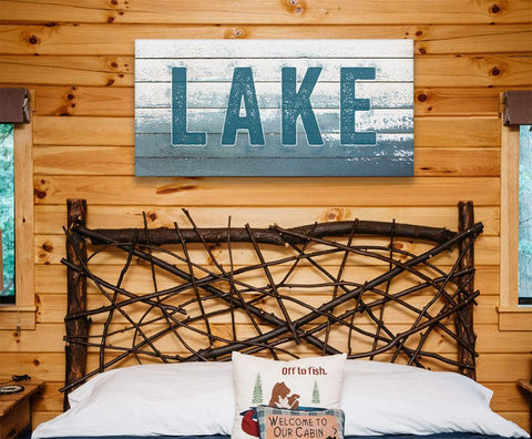 Image of Lake Sign - Canvas