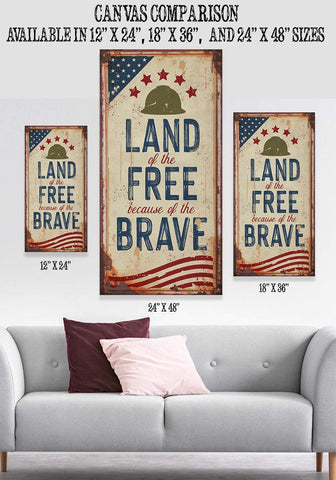 Land of The Free - Canvas.
