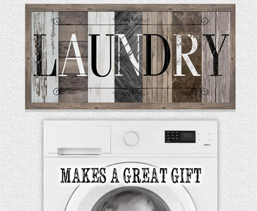 Laundry in Multi Pattern - Large Canvas (Not Printed on Wood) - Stretched on a Heavy Wood Frame-Laundry Room Decor-Great Housewarming Gift Wall Hangings Lone Star Art