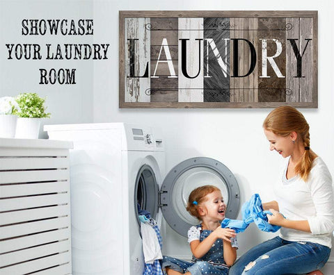 Image of Laundry in Multi Pattern - Canvas.