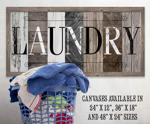 Image of Laundry in Multi Pattern - Large Canvas (Not Printed on Wood) - Stretched on a Heavy Wood Frame-Laundry Room Decor-Great Housewarming Gift Wall Hangings Lone Star Art