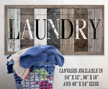 Laundry in Multi Pattern - Canvas.