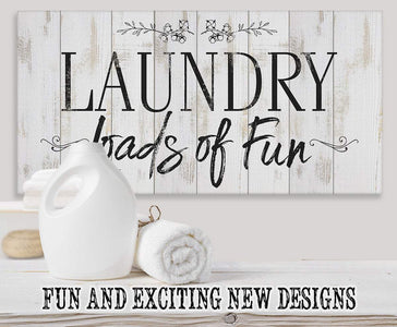 Laundry Loads Of Fun - Canvas