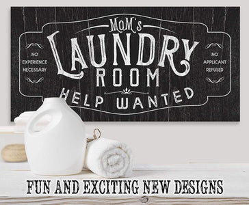 Laundry Room Help Wanted - Canvas.