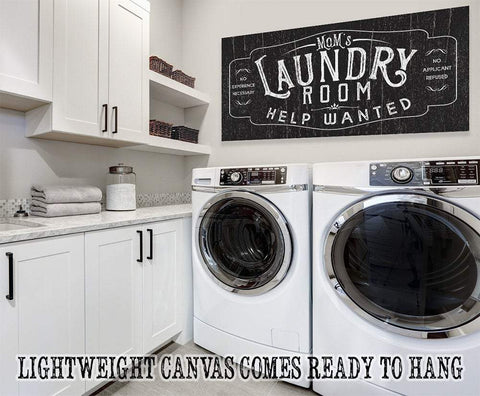 Image of Laundry Room Help Wanted - Canvas.