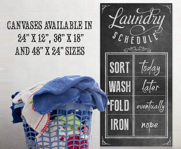 Laundry Schedule - Canvas.